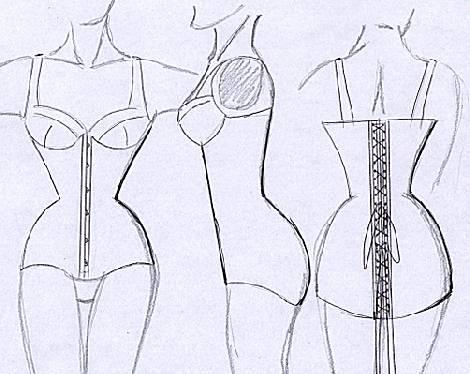 Ice-cone (waist) Korsetts