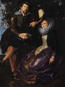 Self-portrait with his first wife (Isabella Brant), Rubens, Netherlands