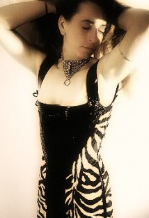 Front-view of the fullbody corsetdress 'Devotion'